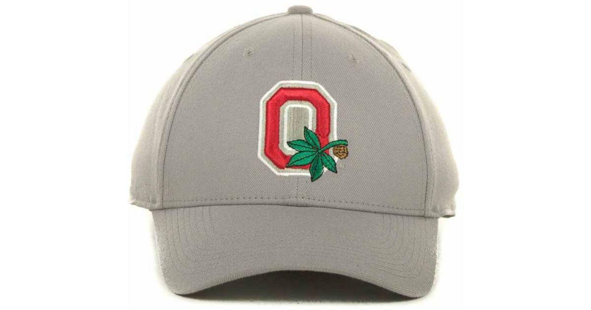 b0cfb148188cc9 Nike Ohio State Buckeyes Drifit Swoosh Flex Cap in Gray for Men - Lyst