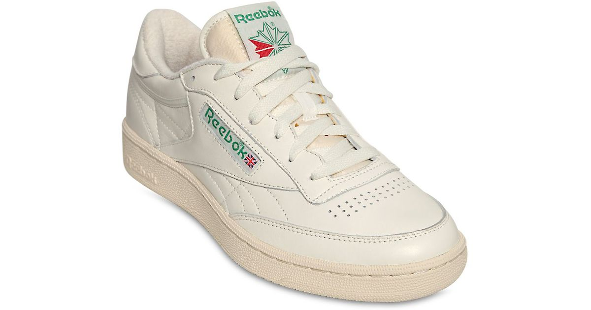 ed0b354c95dd Lyst - Reebok Club C 85 Vintage Leather Low-Top Sneakers in White for Men