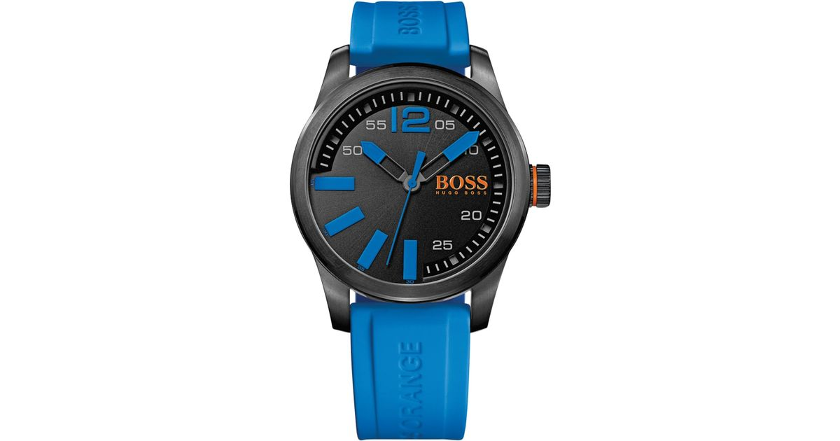 Lyst Boss Orange Hugo Men S Paris Blue Silicone Strap Watch. Brand New Hugo  Boss Men S Blue York Oversized Watch 1513008 e0399b97ba4