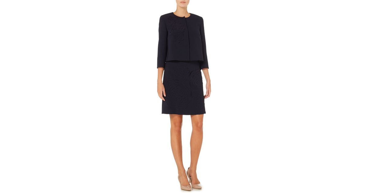 f095f53d49 Max Mara Agito A Line Skirt With Embroidered Floral Detail in Blue - Lyst