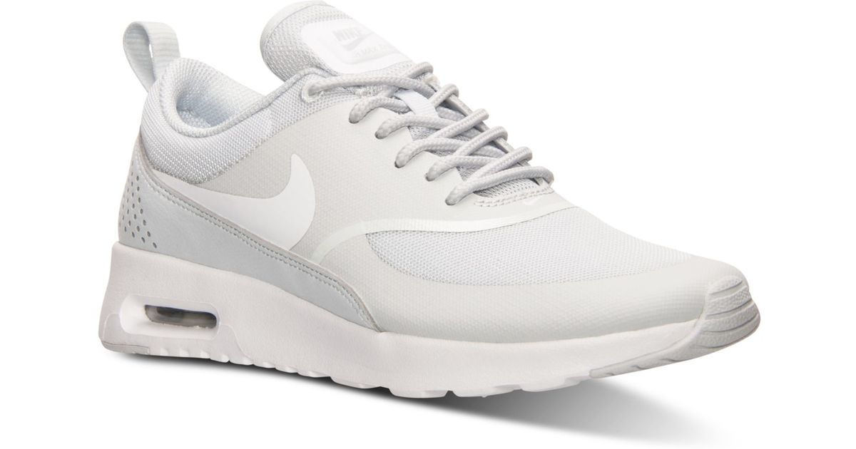 huge discount d87ec 54ee3 Nike Women s Air Max Thea Running Sneakers From Finish Line in White - Lyst