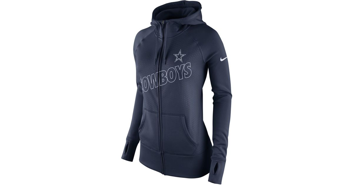 a240c330603b1e Lyst - Nike Women s Dallas Cowboys Stadium Ko Hoodie in Blue