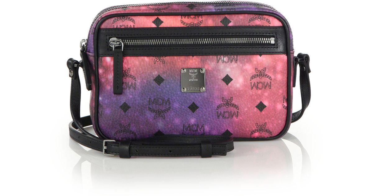 ffb641f863 Lyst - MCM Galaxy-Print Coated-Canvas Cross-Body Bag