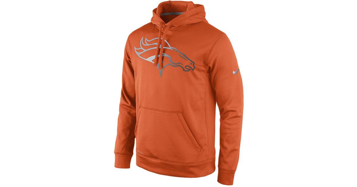 Lyst - Nike Men S Denver Broncos Reflective Ko Hoodie in Orange for Men 7d65446ec