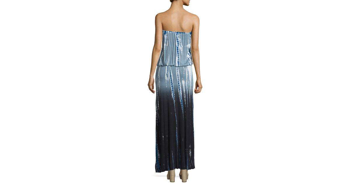 9e1454e34c0 Lyst - Young Fabulous   Broke Sydney Strapless Ombre Tie-dye Maxi Dress in  Gray