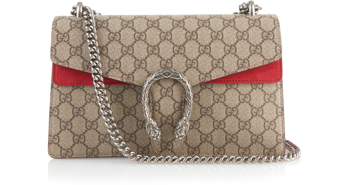 8f4834657eb Lyst - Gucci Dionysus GG Supreme Canvas Shoulder Bag in Gray