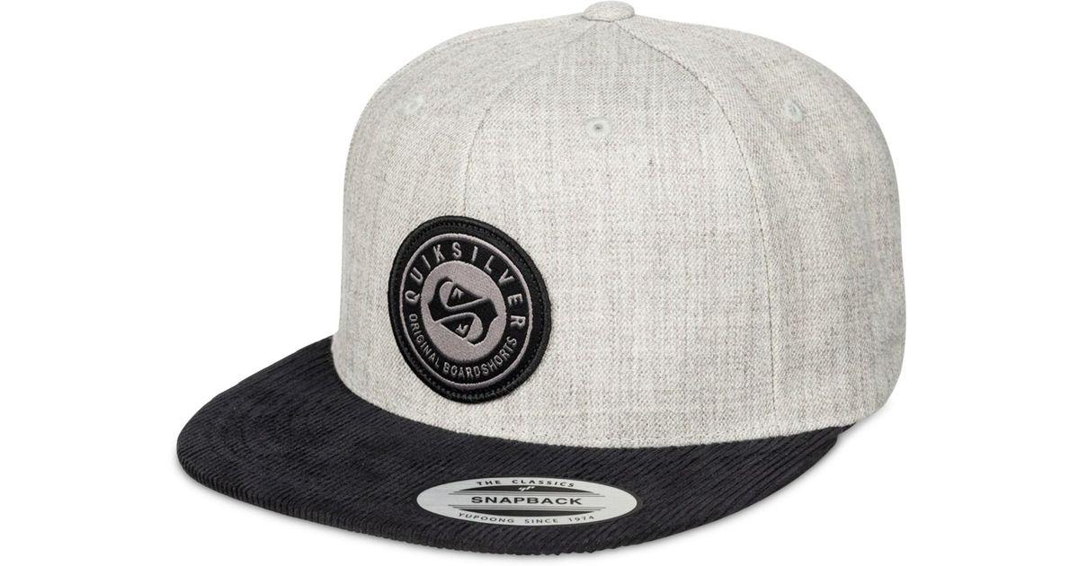 6fe78af3a166a4 ... uk czech lyst quiksilver roast snapback hat in gray for men 789a9 89297  b0598 5ed33