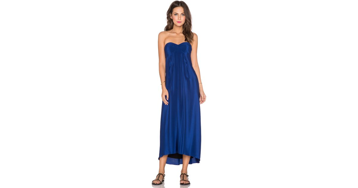 84420d4b2790 Amanda Uprichard Tie Back Maxi Dress in Blue - Lyst