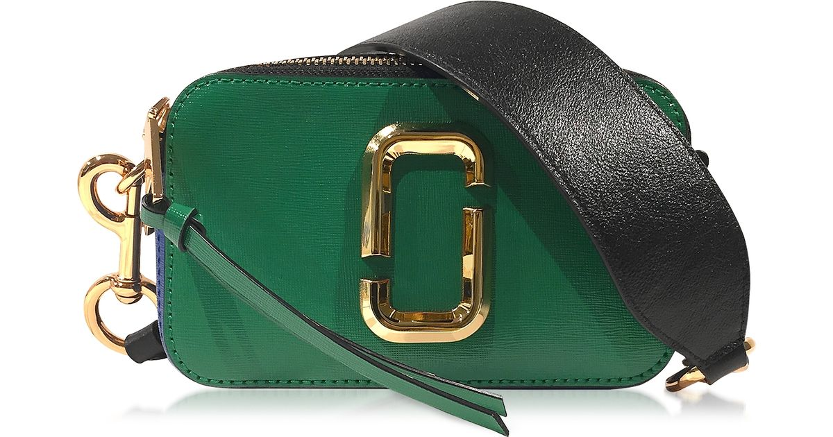 d81a511ca04b Marc Jacobs Snapshot Green Grass Saffiano Leather Small Camera Bag in Green  - Lyst