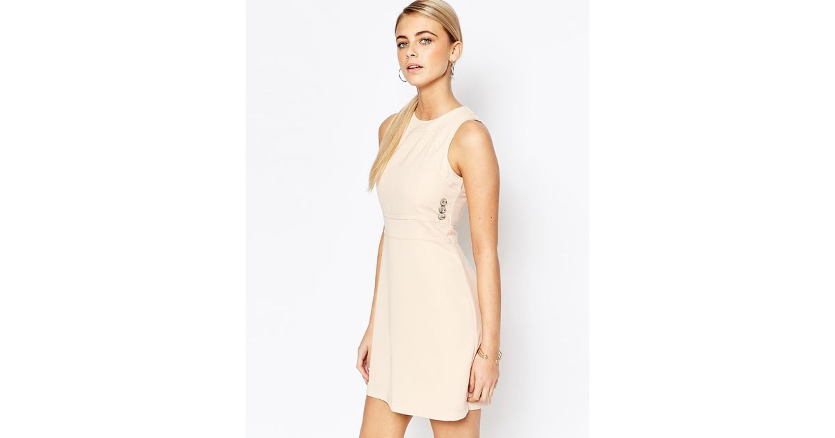 Fashion Union 60 39 S Aline Shift Dress In Natural Lyst