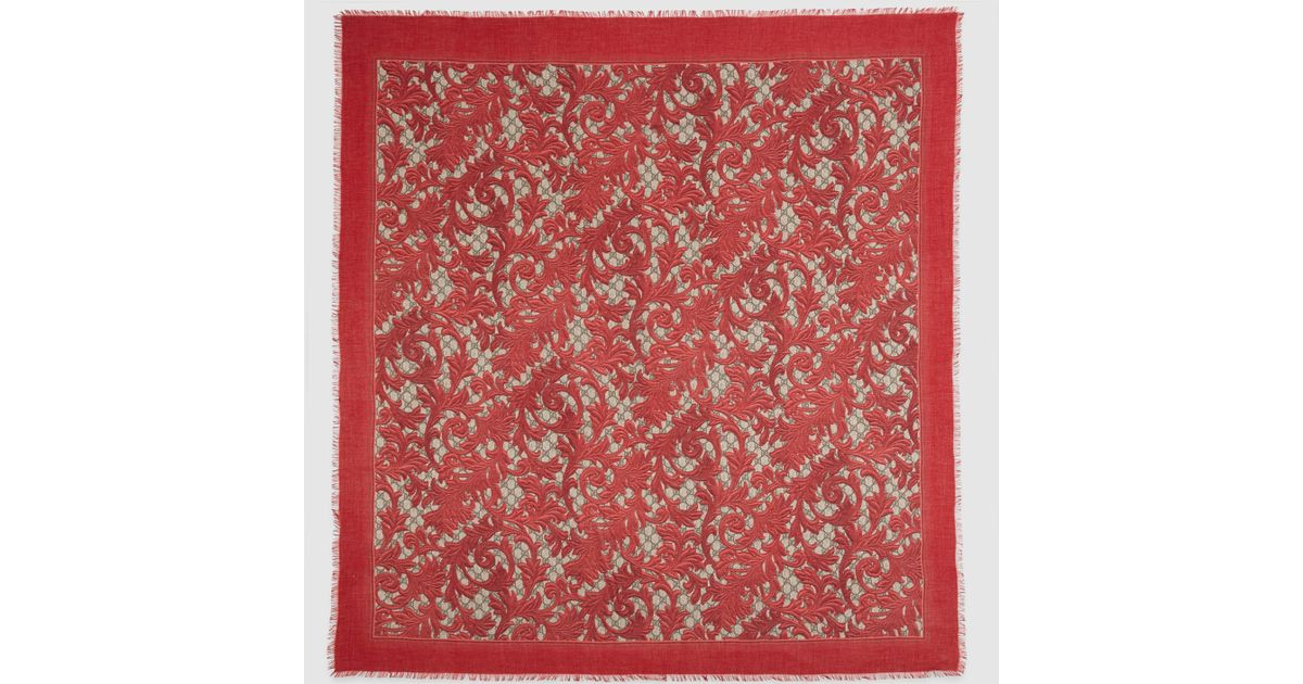 Gucci Arabesque Print Modal Silk - 120.2KB
