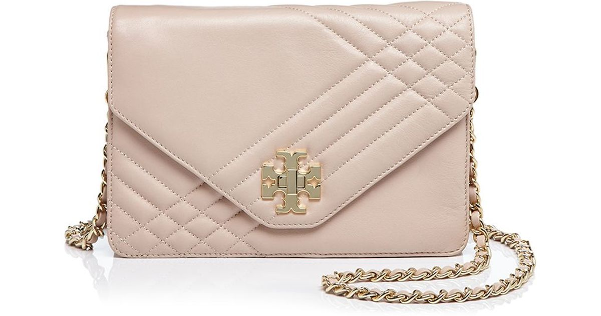 f21c7ef1cc4 Lyst - Tory Burch Kira Quilted Crossbody in Brown