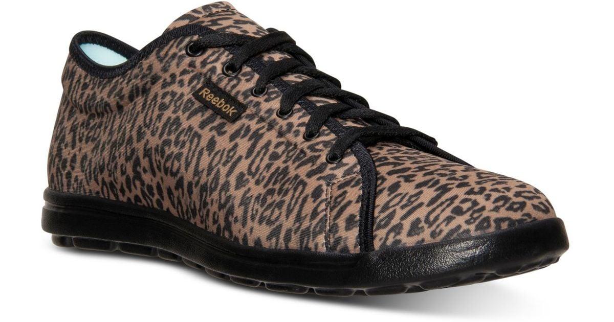 c099f7dac6b Lyst - Reebok Women S Skyscape Runaround Print Walking Sneakers From Finish  Line
