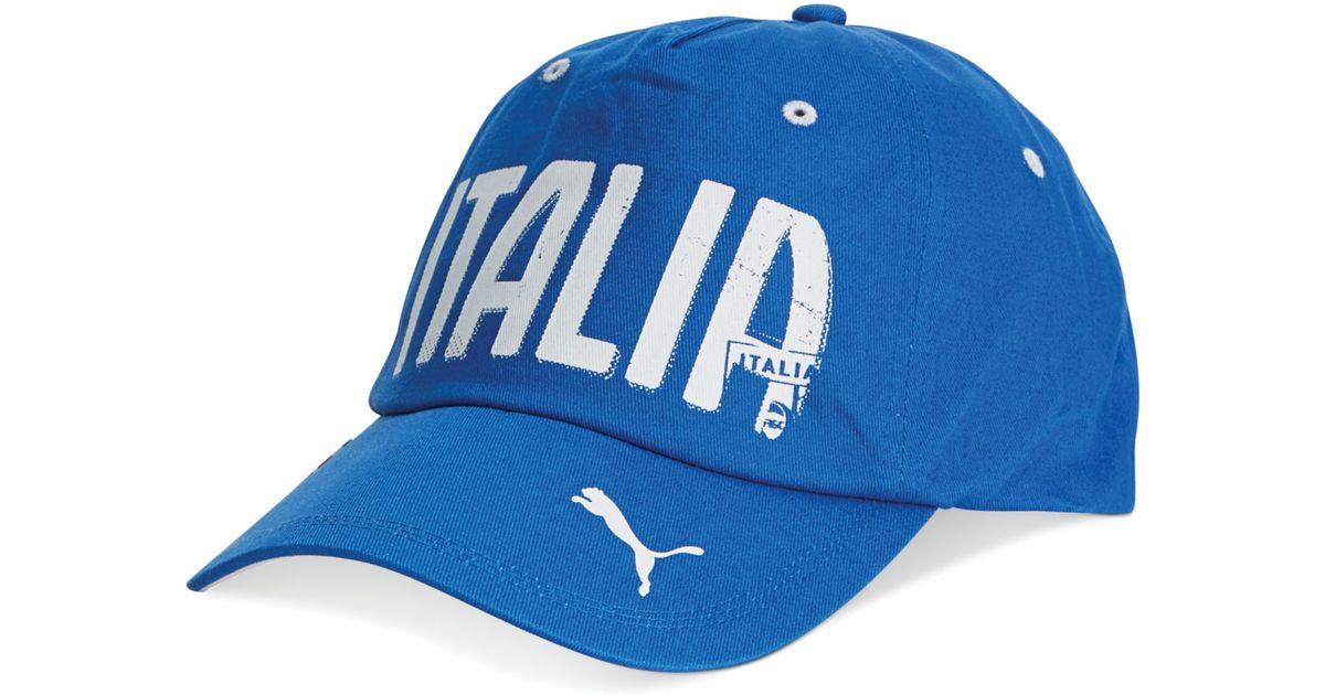 b591939f455 ... authentic lyst puma figc italia graphic hat in blue for men 70bb8 3e3e4