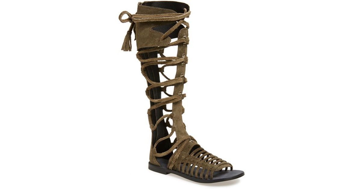 2c5fdbbbdc6c Lyst - Free People  sun Seeker  Tall Gladiator Sandal in Green