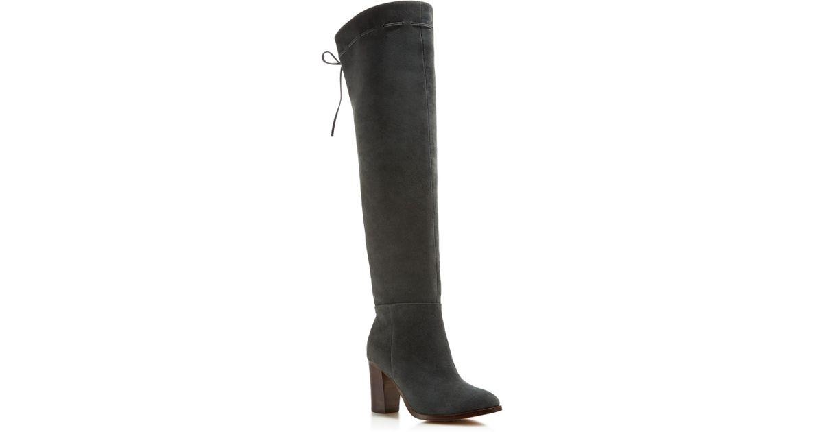 c6d01d4fbe9 Lyst - Splendid Darcie Over The Knee High Heel Boots in Gray