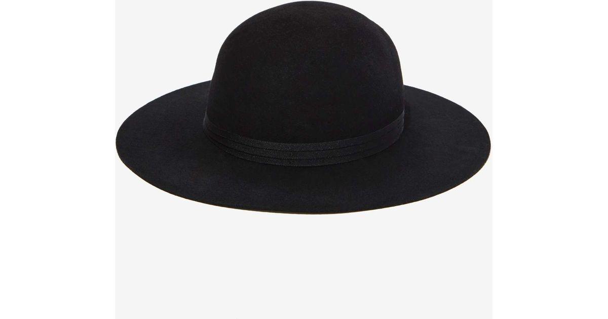 Lyst - Nasty Gal Brixton Magdalena Wool Hat in Black 23bfb0702f0d