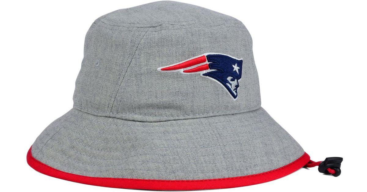 cf22a4c86 ... snapback flat brim hat 0b01f fcffb; wholesale lyst ktz new england  patriots nfl heather gray bucket hat in gray 30d8c 87cd8