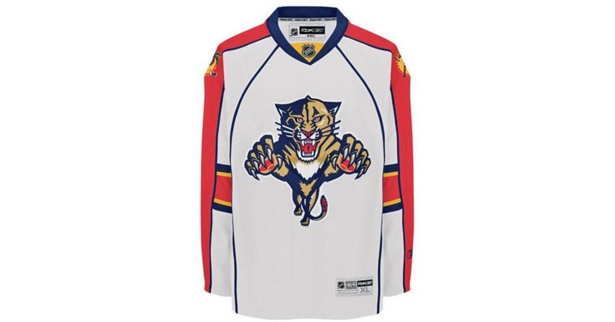 free shipping 2bb98 2c241 Reebok - White Men's Florida Panthers Premier Jersey for Men - Lyst