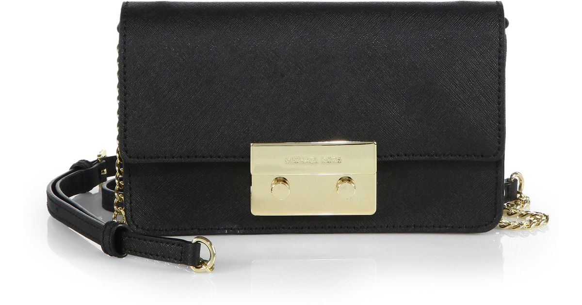 50392b79bf6cb Lyst - MICHAEL Michael Kors Sloan Saffiano Chain Crossbody Bag in Black
