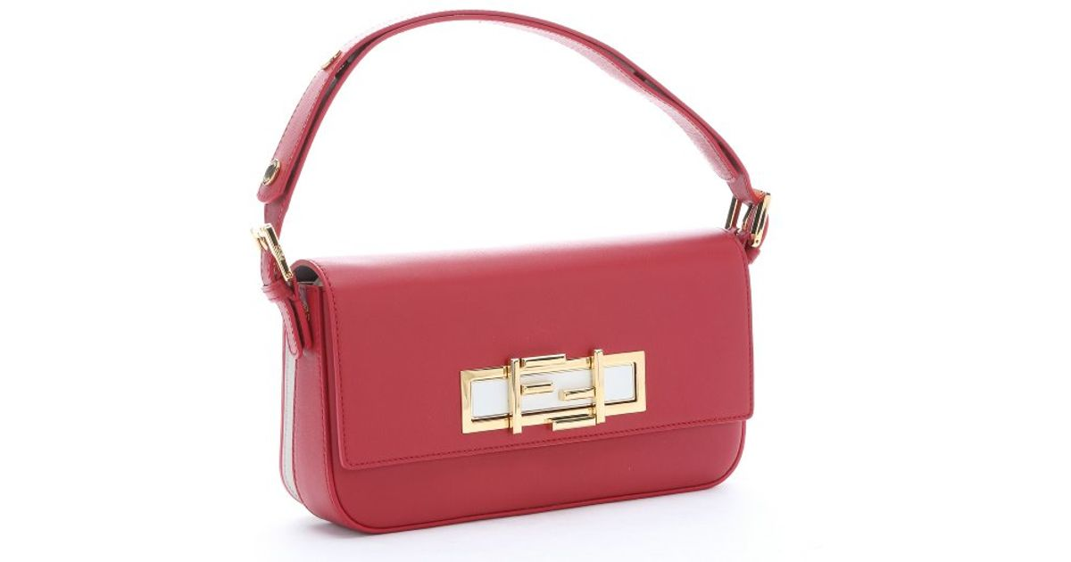 cf8f16a5b9 Lyst - Fendi Red Calfskin  3baguette  Convertible Shoulder Bag in Red