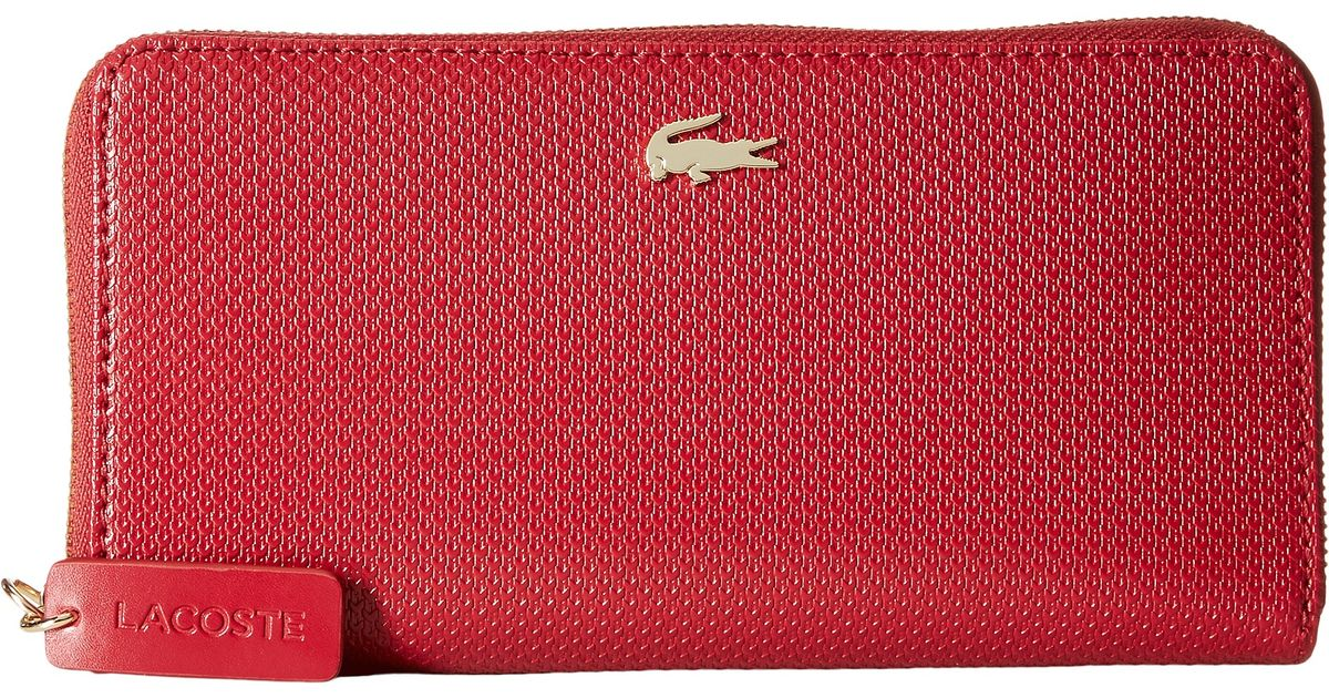 Lyst - Lacoste Chantaco Large Zip Wallet in Red e293c2832