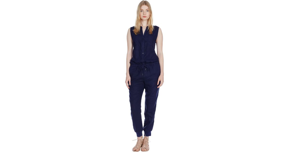 671973960345 Lyst - Joie Corinne Jumpsuit in Blue