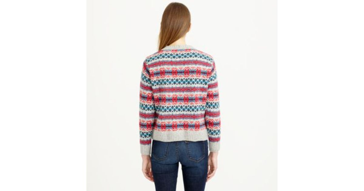 a72c43588 Lyst - J.Crew Harley Of Scotland Fair Isle Sweater