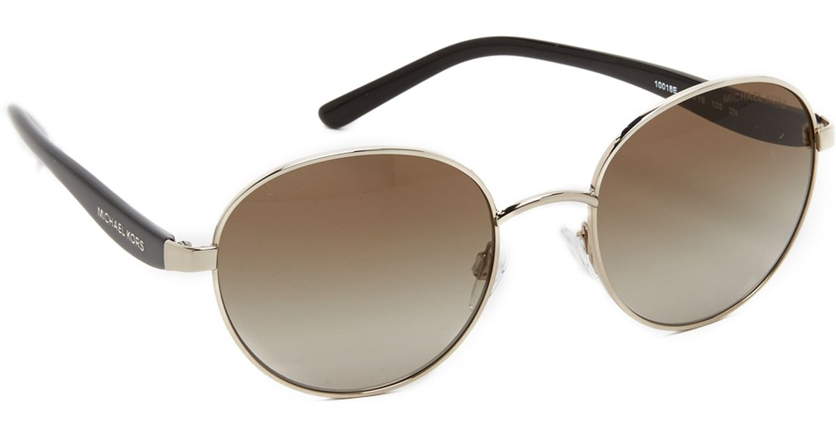 a18f1630fb8 Michael Kors Sadie Iii Sunglasses in Metallic - Lyst