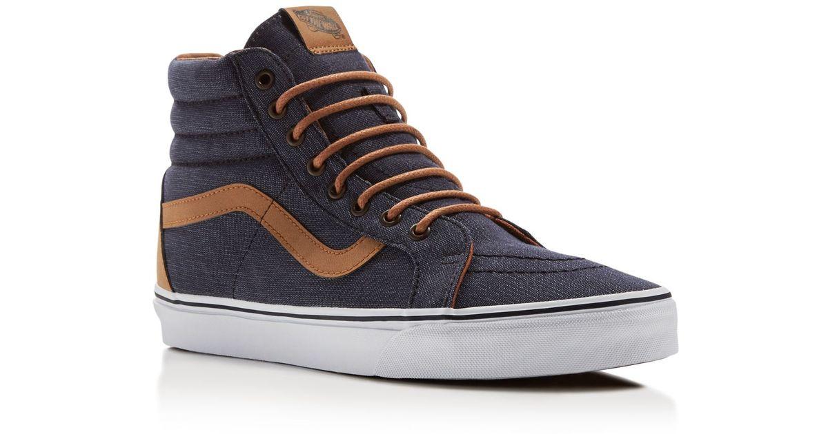 Lyst - Vans Sk8-hi Reissue High Top Sneakers in Blue for Men