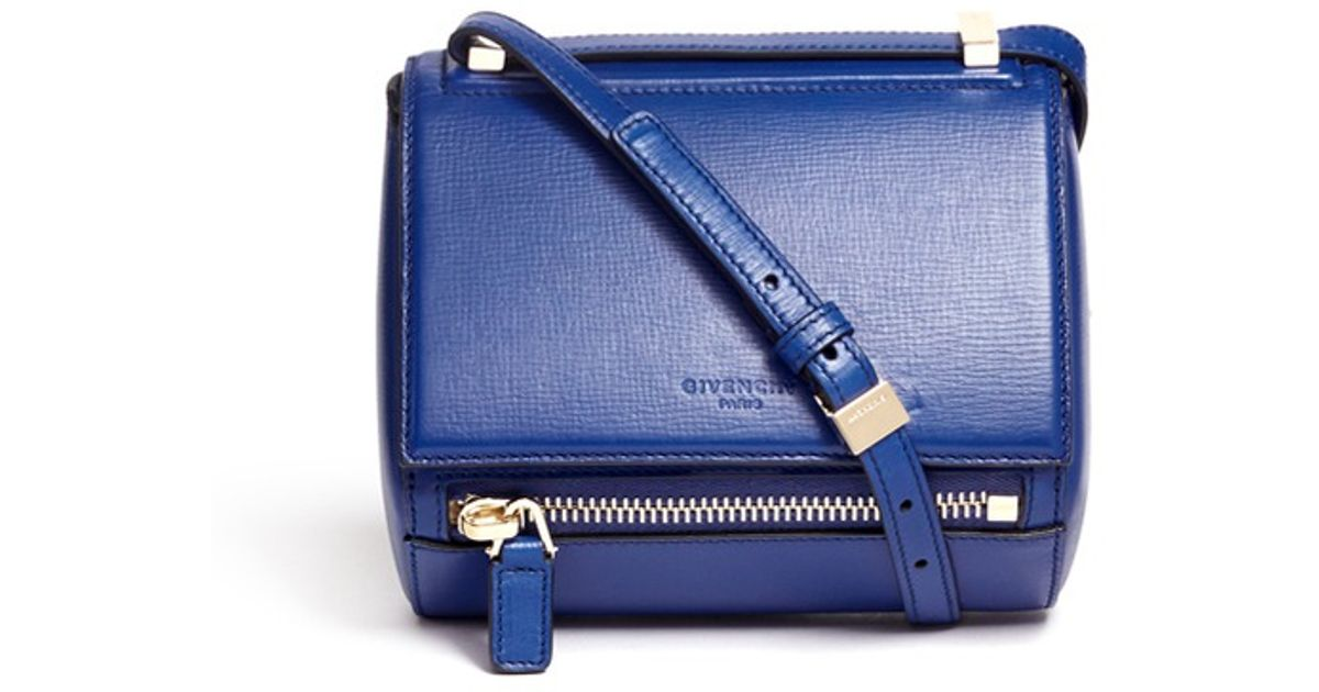 0d0af8ae3d84 Lyst - Givenchy  pandora Box  Mini Leather Bag in Blue