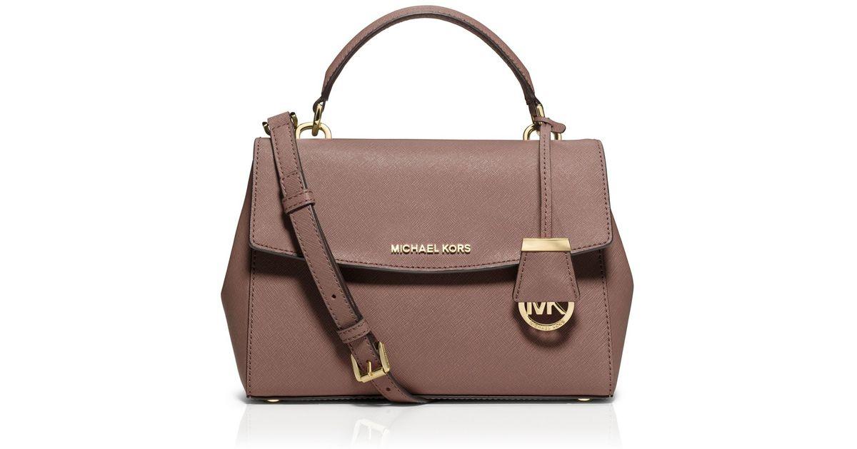 d589854ebd35 ... wallet b8636 62e56  authentic lyst michael michael kors ava small top  handle satchel in pink cc40b 4b089