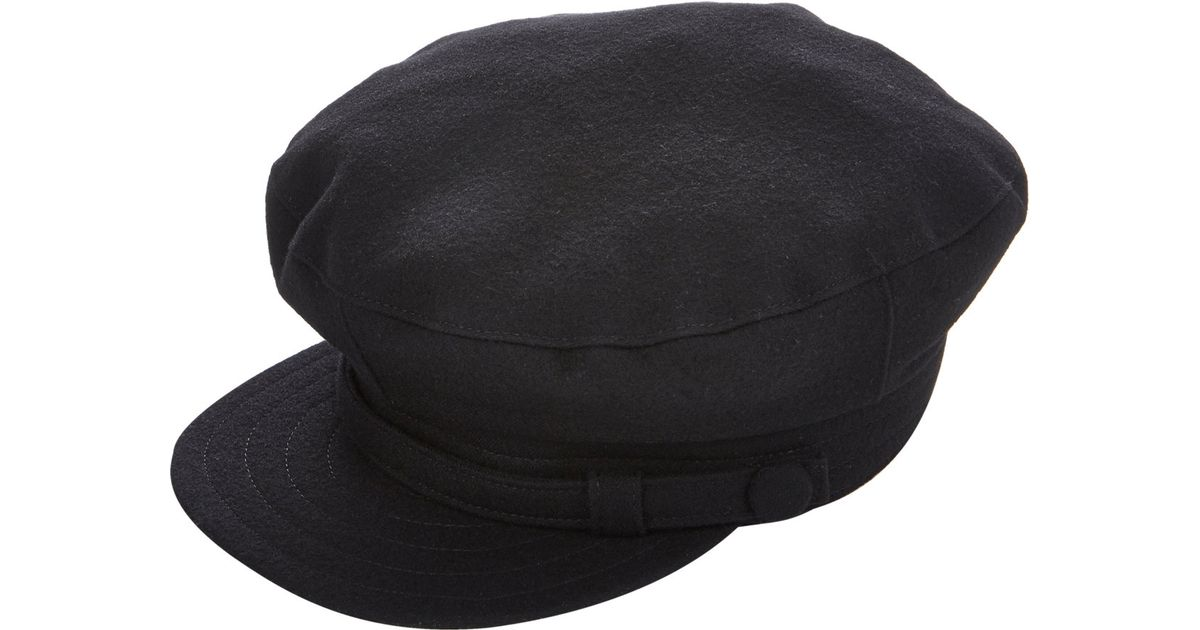 Lyst - Yohji Yamamoto Conductor S Cap in Black for Men 69b3ff6581e