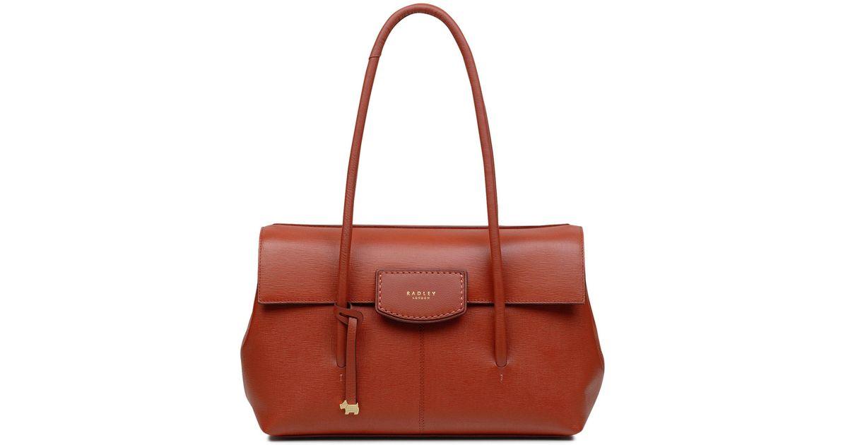 41ca42efdac0 Radley Burnham Beeches Red Large Flapover Shoulder Bag in Red - Lyst
