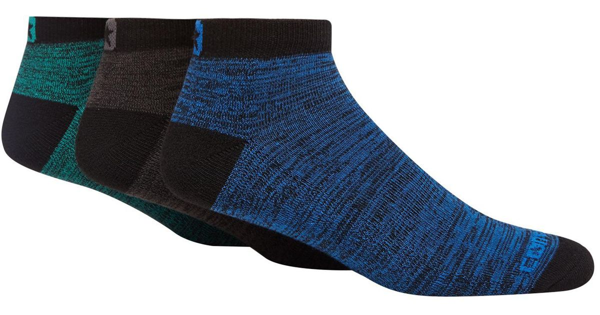 fdcd48d9a3bb Converse Pack Of 3 Multi-coloured Twist Knit Trainer Socks in Blue for Men  - Lyst