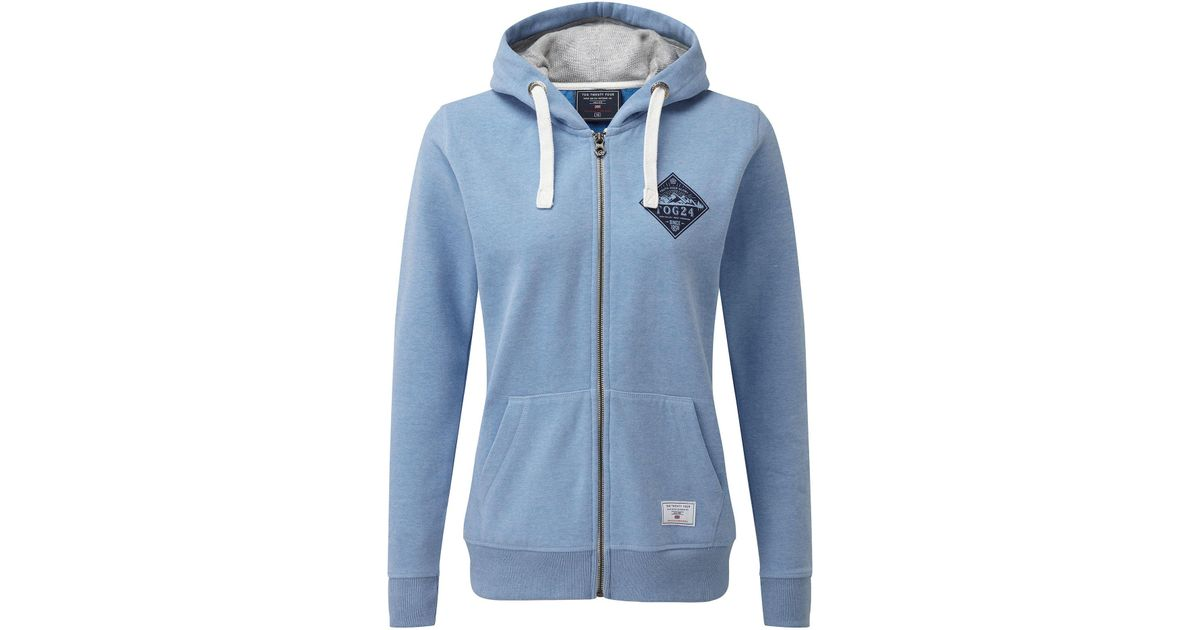 2737e6a46 Tog 24 Marina Blue Marl Savanna Zip Hoody in Blue - Lyst