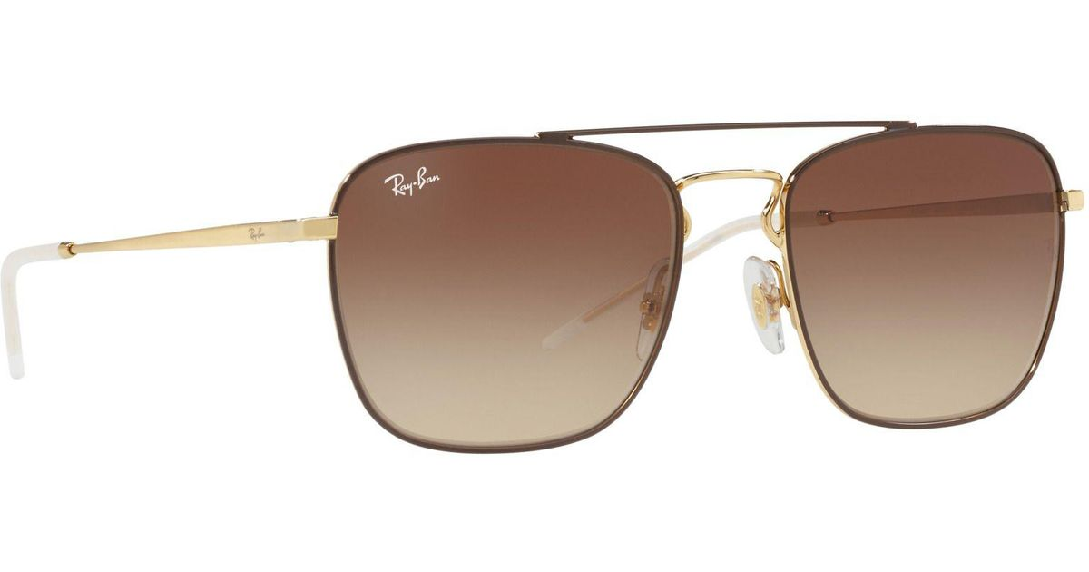 5e31132c4609e Ray-Ban Brown Rb3588 Square Sunglasses in Brown for Men - Lyst