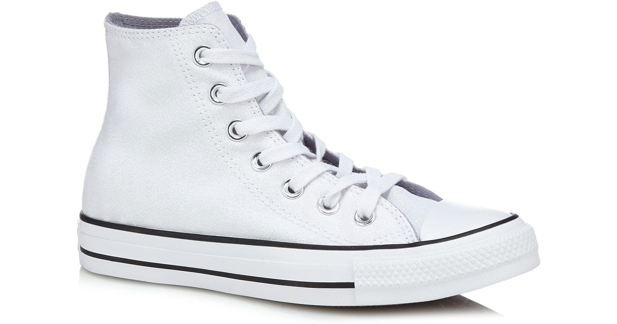 2cf8111cc167 Converse White Glitter Canvas  all Star  Hi-top Trainers in White - Lyst