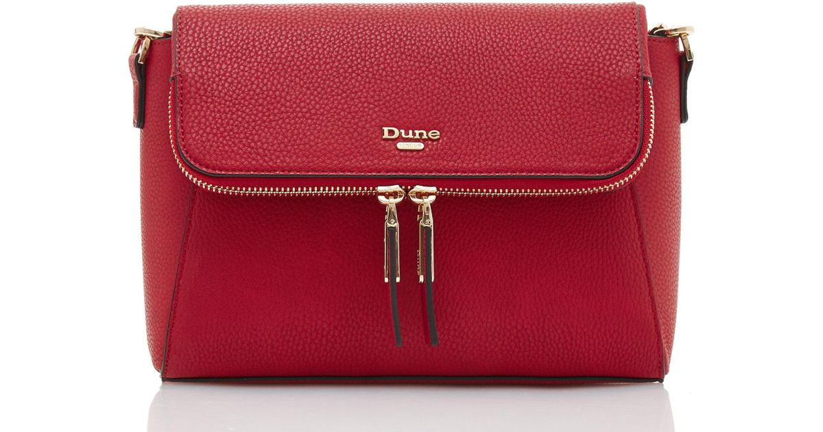 f3120b99e80a Dune Dorothea Textured Cross-body Bag in Red - Lyst