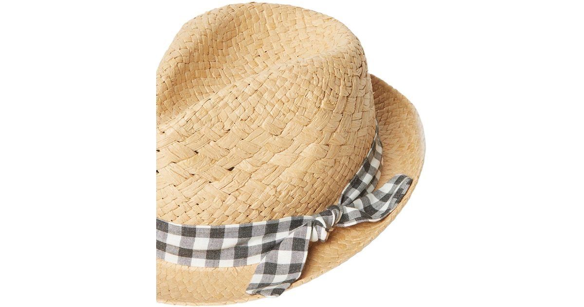 cdd1e55d68d Dorothy Perkins Multi Coloured Gingham Band Trilby Hat - Lyst