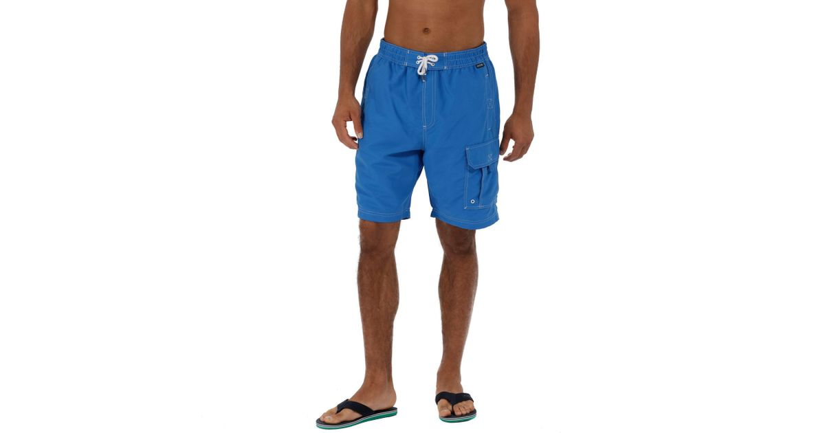 178eaf6db7 Regatta Blue 'hotham' Swim Board Shorts in Blue for Men - Lyst