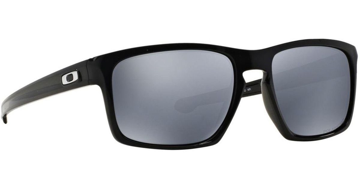 4effd855215bd Oakley Black  sliver  Oo9262 Rectangle Sunglasses in Black for Men - Lyst