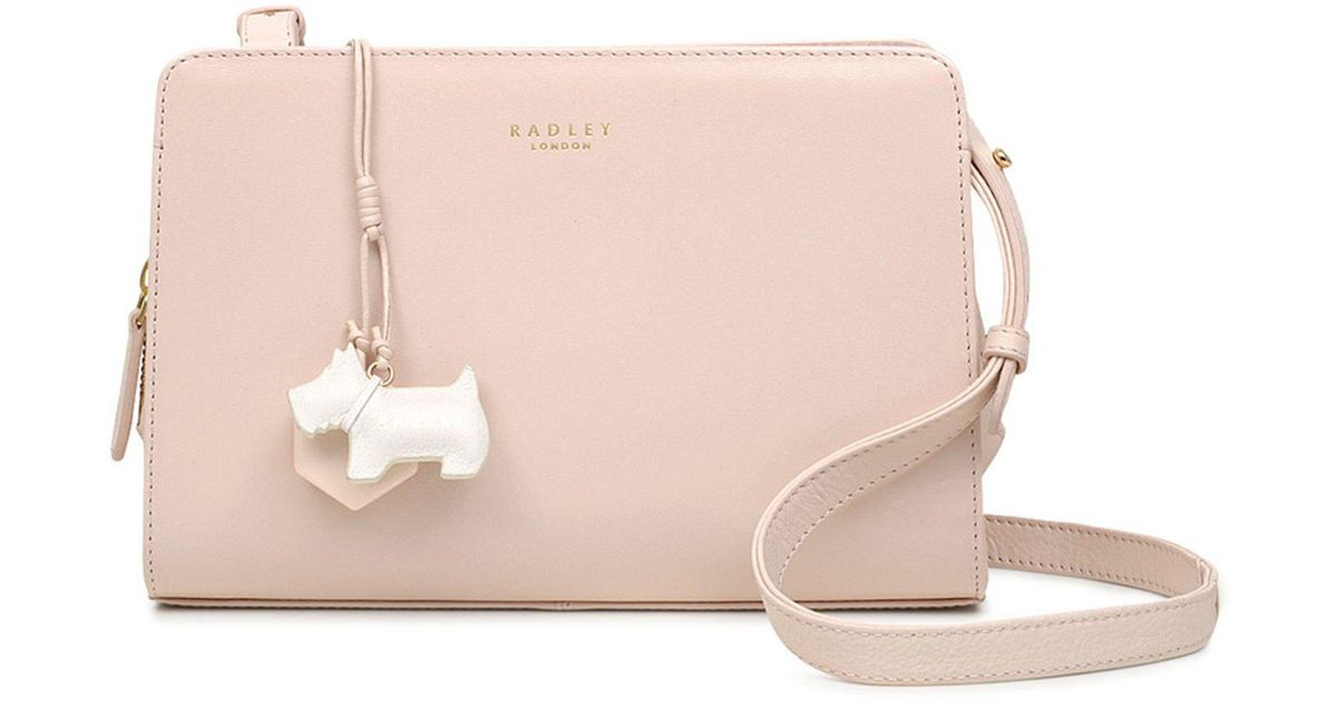 3d4bab8b2dbb Radley Light Pink Leather  liverpool Street  Medium Crossbody Bag in Pink -  Lyst