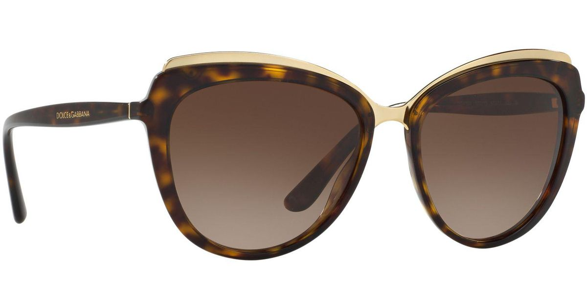 d4cfca61248b Dolce & Gabbana Havana Dg4304 Cat Eye Sunglasses in Brown - Lyst
