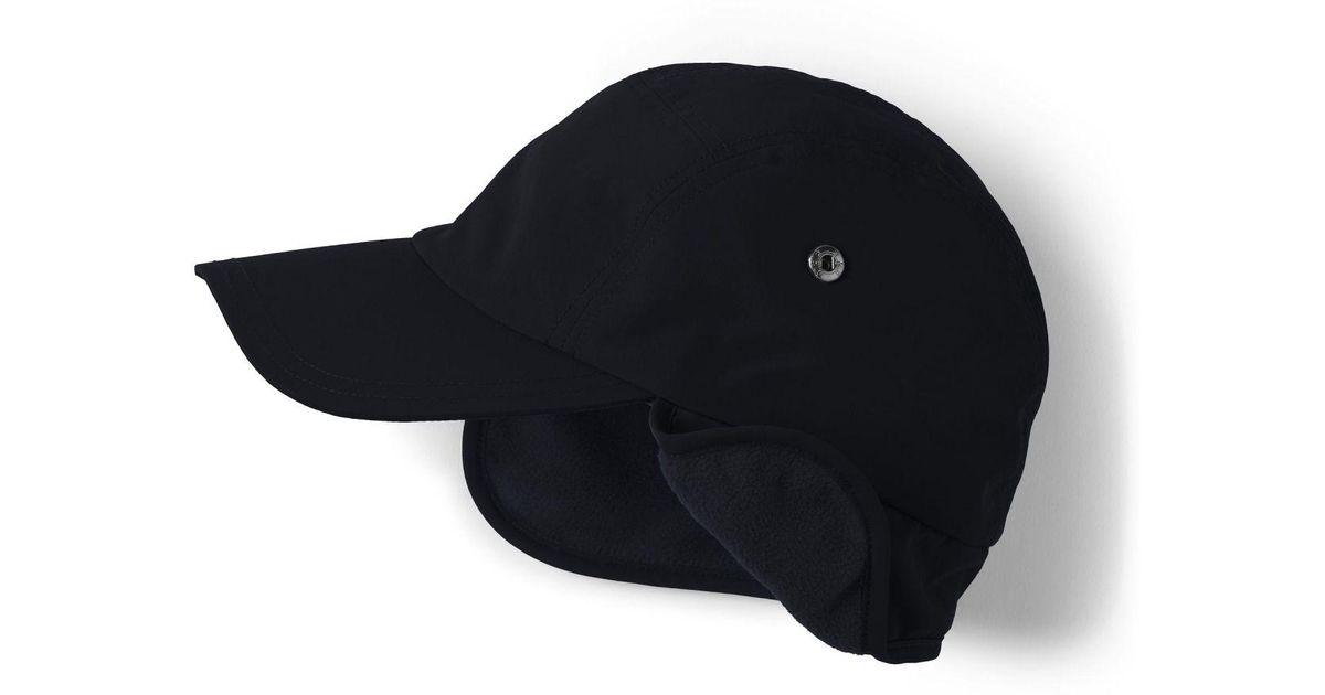a877e94e81490 Lands  End Black Squall Cap in Black for Men - Lyst