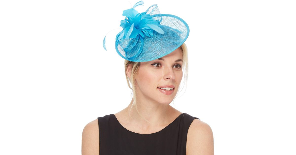 Début Dark Turquoise Feather Fascinator in Blue - Lyst 9ab04591914