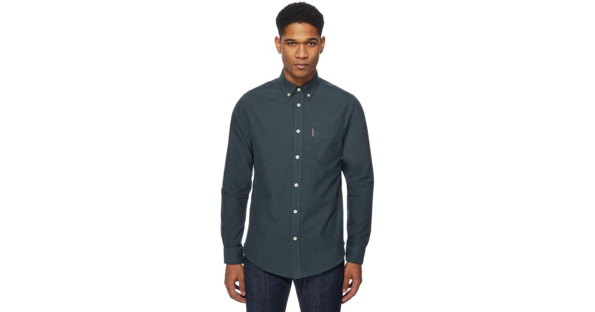 5b24031ad5 Ben Sherman Big And Tall Green Oxford Shirt in Green for Men - Lyst