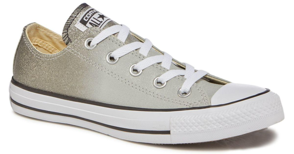 d7769f60eb501b Converse Grey Ombre Glitter  all Star Ox  Trainers in Gray - Lyst