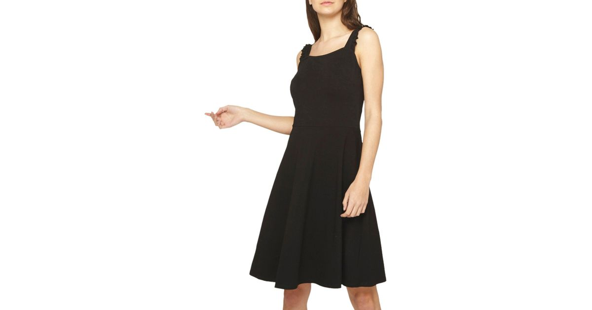 db5cbd3c3c Dorothy Perkins Tall Black Ruffle Sundress in Black - Lyst