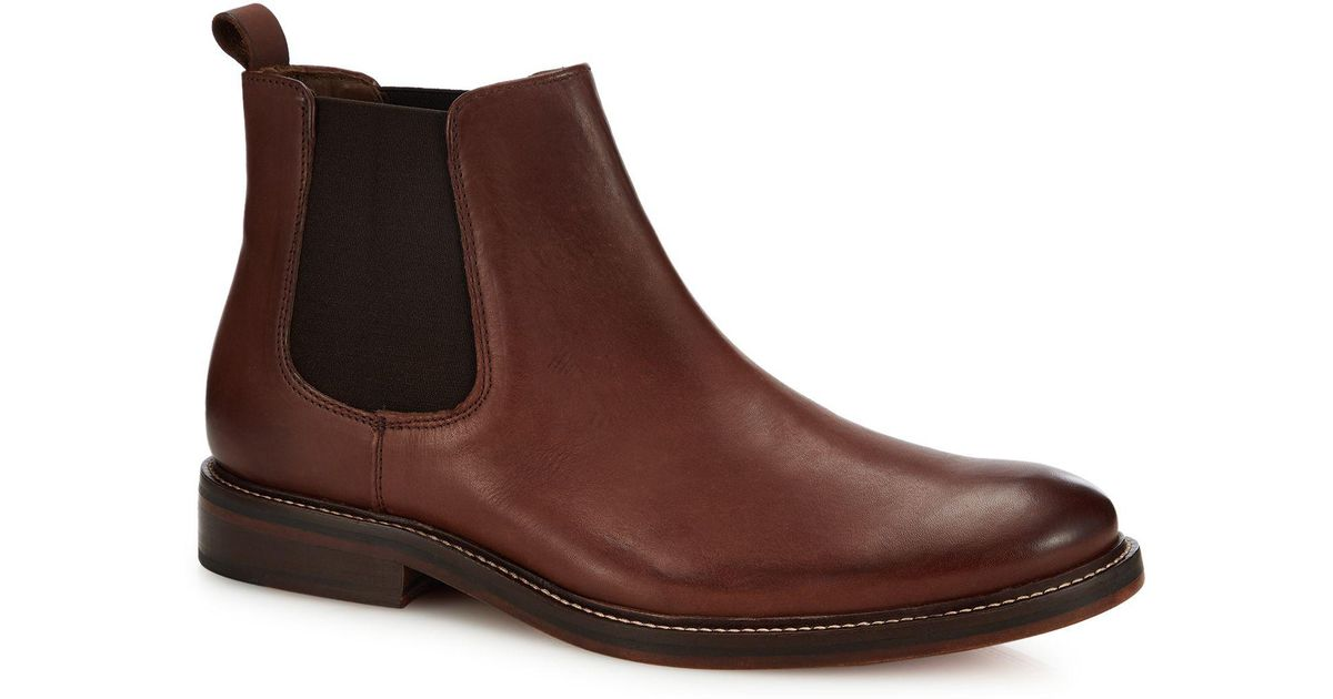 b656e8d78fe J By Jasper Conran Chocolate Brown Leather  parma  Chelsea Boots in Brown  for Men - Lyst